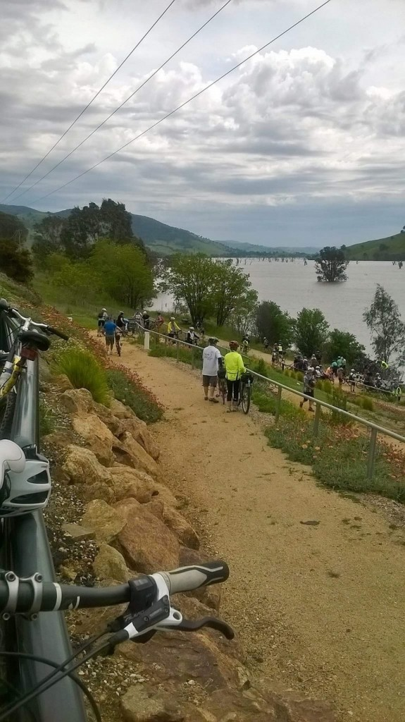 Old Tallangatta Loookout on the shores of Lake Hume