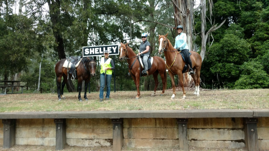 Riders at Shelley Station